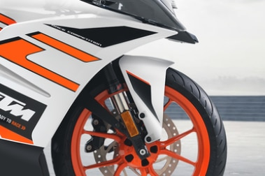 KTM RC 125 Front Mudguard & Suspension