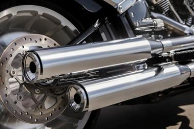 Harley Davidson Fat Boy Exhaust View