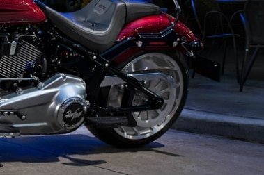 Harley Davidson Fat Boy Rear Tyre View