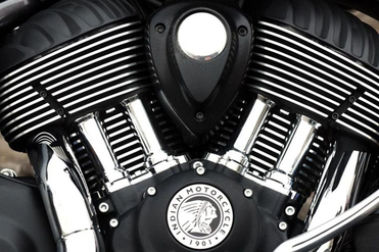 Indian Chieftain Front Suspension View