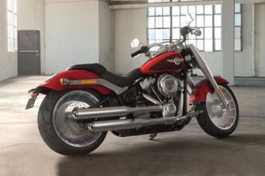 Harley Davidson Fat Boy Rear Right View