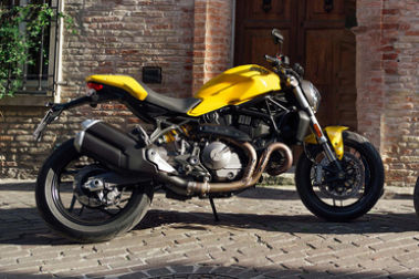 Ducati Monster 821 Rear Right View