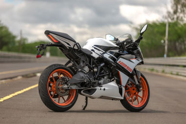 KTM RC 125 Rear Right View