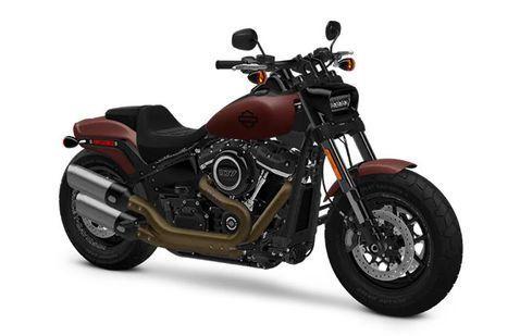 Harley Davidson Fat Bob Red-Iron-Denim