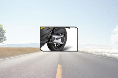 Aprilia SR 125 Rear Tyre View