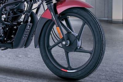 Bajaj CT100 Front Tyre View