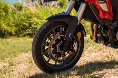 Benelli TRK 502 Front Tyre View