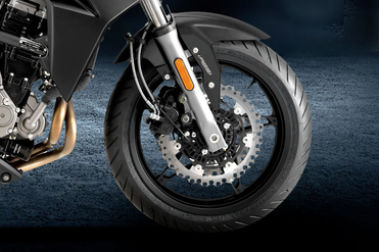 CFMoto 650NK Front Tyre View