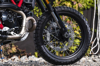 Ducati Scrambler Desert Sled Front Tyre View