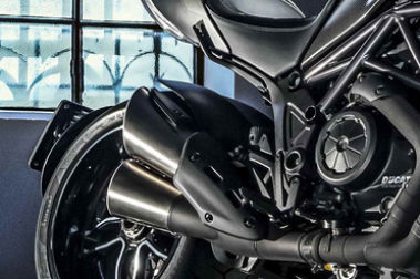 Ducati Diavel Exhaust View
