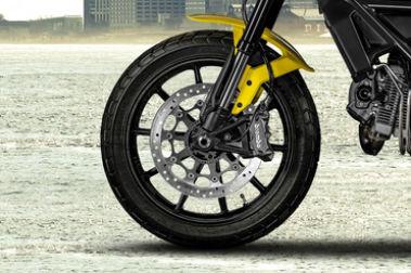 Ducati Scrambler Front Tyre View