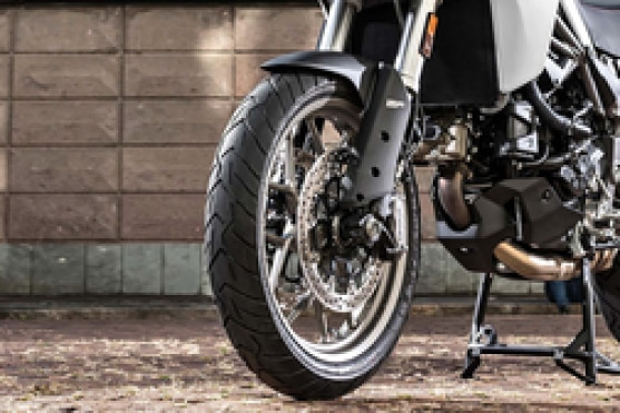 Ducati Multistrada 950 Front Tyre View