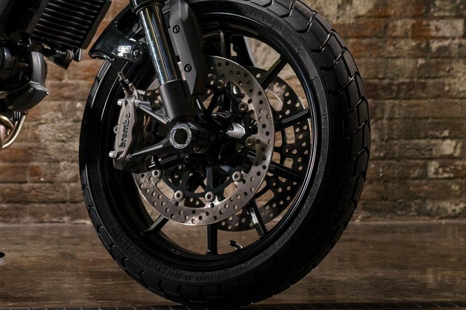 Ducati Scrambler 1100 Front Tyre View