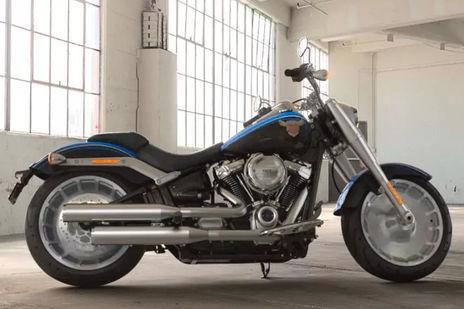 Harley Davidson Fat Boy Anniversary Right Side View