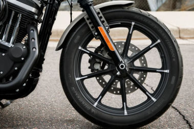 Harley Davidson Iron 883 Front Tyre View