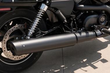 Harley Davidson Street 750 Exhaust View