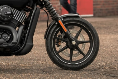 Harley Davidson Street 750 Front Tyre View