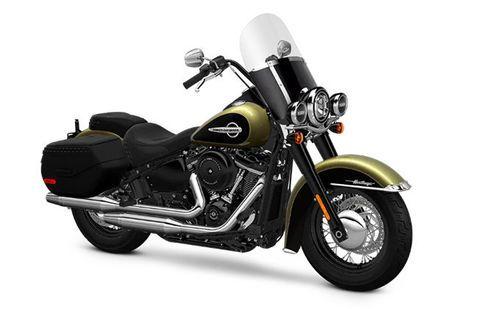 Harley Davidson Heritage Softail Classic Olive-Gold