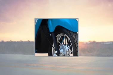 Hero Electric Optima LA Front Mudguard & Suspension
