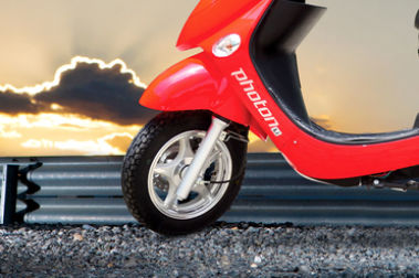 Hero Electric Photon 48V Front Tyre View
