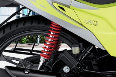Hero Glamour Rear Suspension View