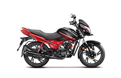 Hero Glamour Black with Sports Red
