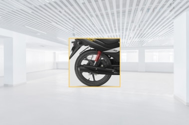 Hero Passion Pro Rear Tyre View