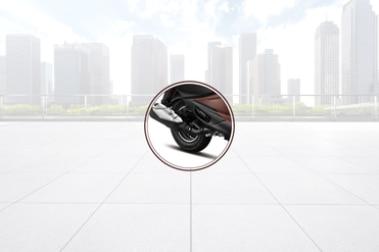 Hero Pleasure Plus Rear Tyre View