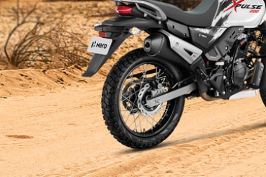 Hero XPulse 200 Rear Tyre View