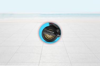 Honda Dio Rear Tyre View