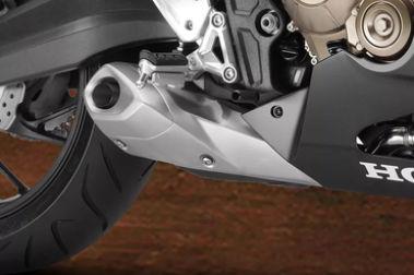 Honda CBR650F Exhaust View