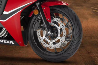 Honda CBR650F Front Tyre View