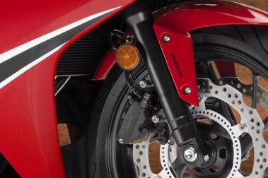 Honda CBR650F Front Suspension View