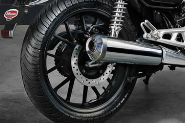 Honda Hness CB350 Rear Tyre View