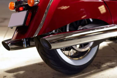 Indian Chief Classic Exhaust View