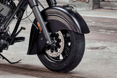 Indian Chief Dark Horse Front Tyre View