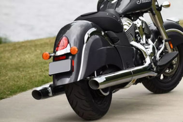 Indian Chief Exhaust View