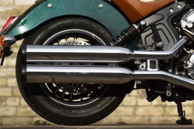 Indian Scout Exhaust View