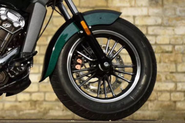 Indian Scout Front Tyre View