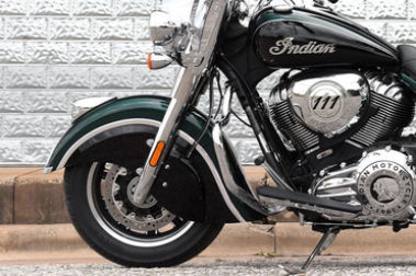 Indian Springfield Front Tyre View