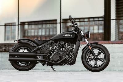 Indian Scout Bobber Sixty Rear Left View