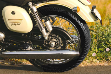 Jawa 42 Rear Tyre View