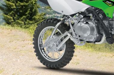Kawasaki KLX 110 Rear Tyre View