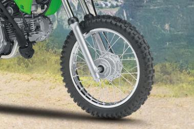 Kawasaki KLX 110 Front Tyre View
