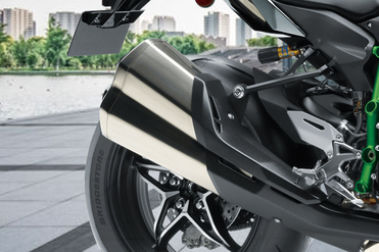 Kawasaki Ninja H2 Exhaust View