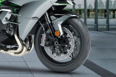 Kawasaki Ninja H2 Front Tyre View