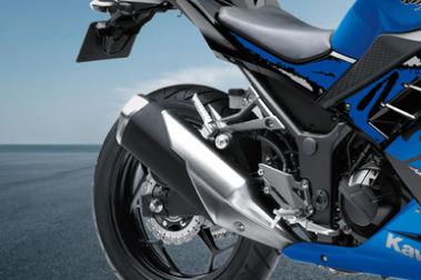 Kawasaki Ninja 300 Exhaust View