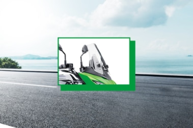 Kawasaki Versys 650 Windshield View