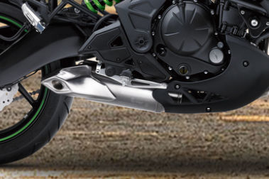 Kawasaki Versys 650 Exhaust View