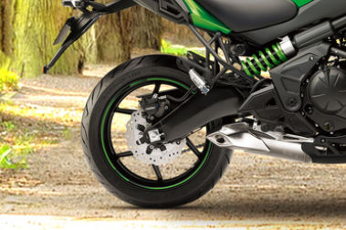 Kawasaki Versys 650 Rear Tyre View